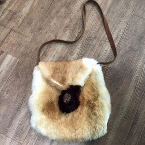 Artist made fur purse